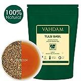Hojas de té Tulsi Basil Masala Chai de la India (50 tazas), mezcla única de té negro de Assam, albahaca Tulsi, canela, cardamomo, jengibre, pimienta negra, clavo, macis y nuez moscada, 100g