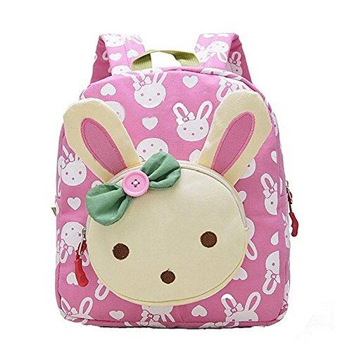 GWELL 3D Bunny Babyrucksack Kindergartenrucksack Kindergartentasche Backpack Schultasche Kinder Mädchen