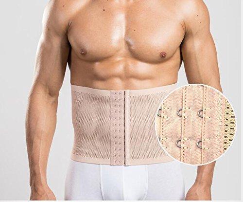 Importikah Mens 3 Hooks Instant Tummy Tuck Slim Waist Belt Shaper Cincher Trimmer Bodyshape