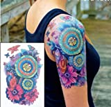 BLUMEN TATTOO BUNT FAKE TATTOO ft01 EINMAL TATTOO