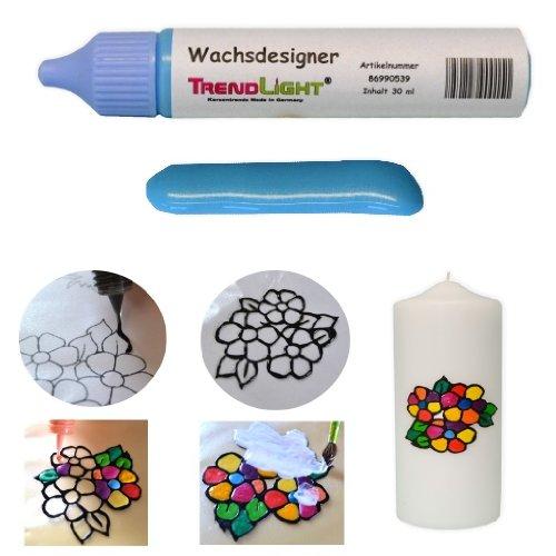 TrendLight  Wachsdesigner eisblau glänzend 30 ml inkl. ausführlicher Anleitung mit Bilder