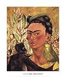 Frida Kahlo – Self- Portrait with Monkey and Parrot 1942 Kunstdruck (50,80 x 60,96 cm)