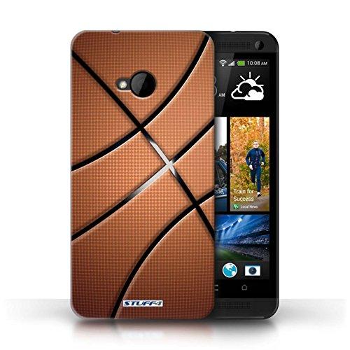 Coque de Stuff4 / Coque pour HTC One/1 M7 / Base-ball Design / Balle Sportif Collection Basket-ball