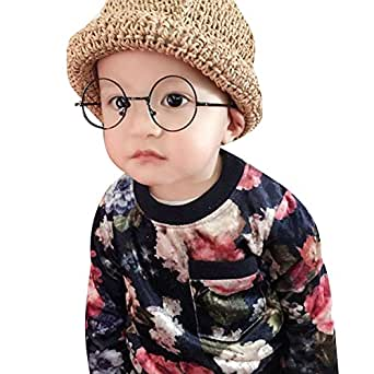 ca174e1b28 Image Unavailable. Image not available for. Colour  Baby Round Glasses Frame  - Toddler Infant Kids Children Eyeglasses Clear Lens Geek Nerd Retro
