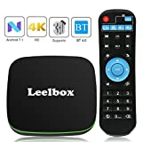Android 7.1 TV Box, Leelbox Q1 Leelbox Smart TV Box Quad Core, 4K*2K UHD H.265, USB*2, WiFi Media Player, Android Set-Top Box