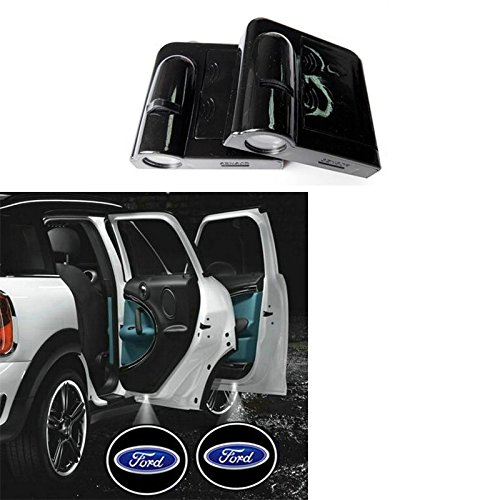 Soondar 2pz Universale Wireless Auto proiezione LED proiettore Porta Shadow Light Laser Luce Benvenuto lampade Emblema Logo Kit, No Drilling