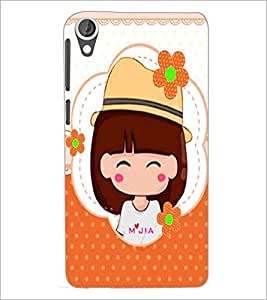 PrintDhaba Cute Doll D-5626 Back Case Cover for HTC DESIRE 820 (Multi-Coloured)