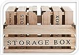 Holz Dekokiste Storage Box Vintage Kisten versch. Größen (3er Kistenset)