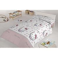 Hello Kitty 35389 - Dúo funda nórdica para cama de 90 cm, diseño Angels, color rosa