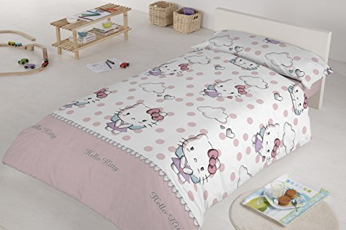 Foto de Hello Kitty 35389 - Dúo funda nórdica para cama de 90 cm, diseño Angels, color rosa