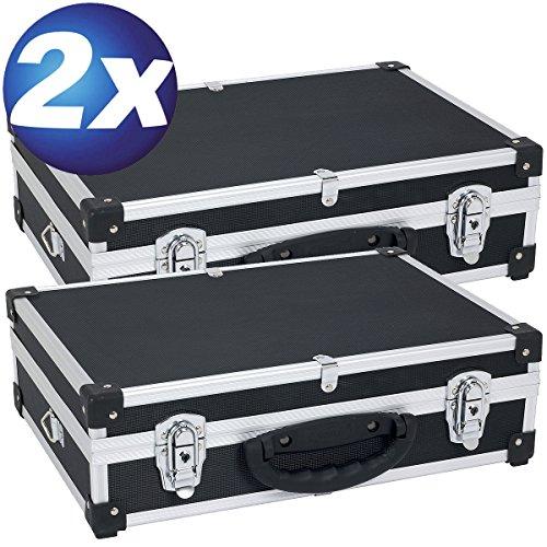 Preisvergleich Produktbild XXX 2 Aluminium Koffer 3 Fächer schwarz PRM10101B XXX