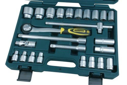 Mannesmann M29080 Coffret de clés à douille et douilles 25 pièces 1/2\