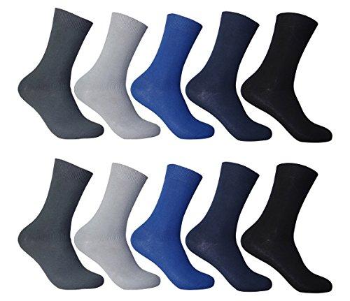 10 Paar Palleon Business Socken (43 - 46, mehrfarbig)