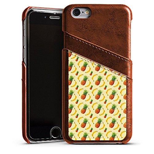 Apple iPhone 4 Housse Étui Silicone Coque Protection Ananas Banane Été Étui en cuir marron