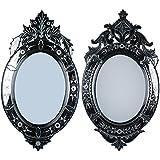 MADHUSUDAN GLASS WORKS Mirror & Plywood Wall Mirror (Pack Of 2, Silver) - B07BJ3WNYB