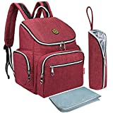 S-ZONE Oxford Multi-Function Baby Diaper Bag Backpack with Changing Pad and Portable Insulation