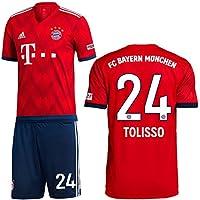 adidas FC Bayern München Set Home 2018 2019 Bestehend aus Trikot und Hose mit Spielername
