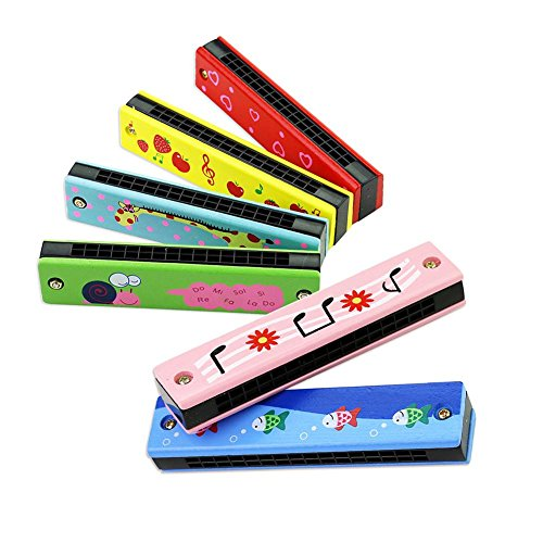 Mini Mundharmonika kinder Musikinstrument Spielzeug Bunt 16-Loch Doppel Tremolo Musikinstrumente Kinderspielzeug