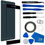 MMOBIEL Kit de Reemplazo de Pantalla Táctil para Huawei P7 (Negro) incluye pantalla de Vidrio / cinta adhesiva de 2 mm / Kit de Herramientas / Limpiador de microfibra / alambre Metálico