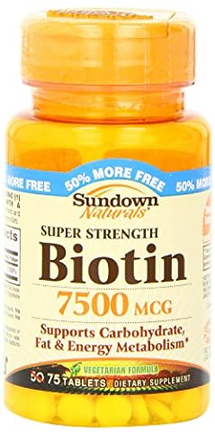 Super Strength Biotin, 7500 mcg, 75 Tabletten - Rexall Sundown Naturals