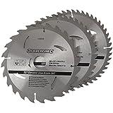Silverline 749249 Jeu de 3 lames de scie circulaire TCT 200 mm