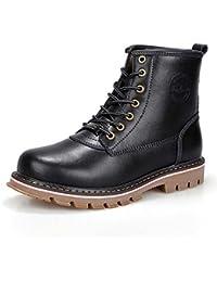 Botas Martin Boots Desert Boots Retro Round Toe con cordones Botines altos Boots Tool Cotton Shoes Eu Tamaño 38-44 ( Color : Black plush , Size : 44 )