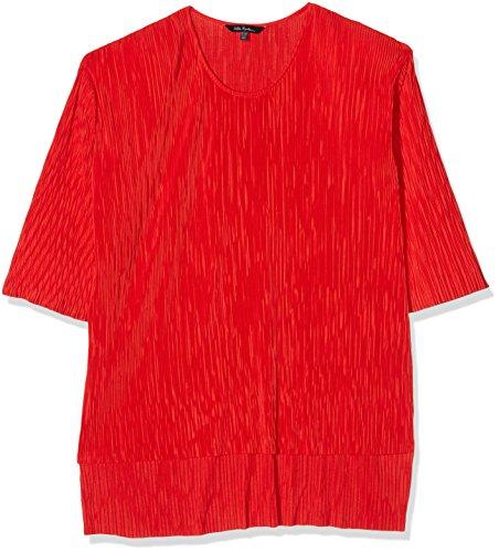 Crinkle-jeans-rock (Ulla Popken Damen crinkle tunic Longshirt Plissiert, Rot (Apricot 54), 46 (Herstellergröße: 46+))