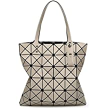 Las Mujeres Diamond Lattice Tote 6*6 GeometríA De Plegado Bolsa Crossbody Bolsos