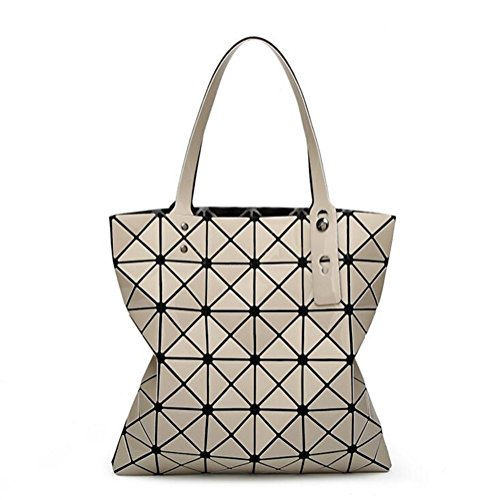 (Frauen Diamantgitter Tote 6 * 6 Geometrie Crossbody-tasche Falten Handtaschen)