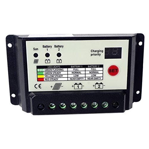Eco-worthy 20 A Solar Panel Laderegler PWM 12 V/24 V selbstlernende Digital LED Display (Solar-panel-überspannungsschutz)