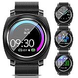BANLVS Smartwatch, Reloj Inteligente Impermeable 67 con PulsómetroPresión Arterial, Pulsera ActividadInteligente con Monitor de Sueño...