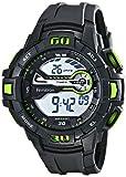 Armitron Sport Homme 40/8338grn Vert Accented Montre chronographe numérique montre avec bracelet en résine noir