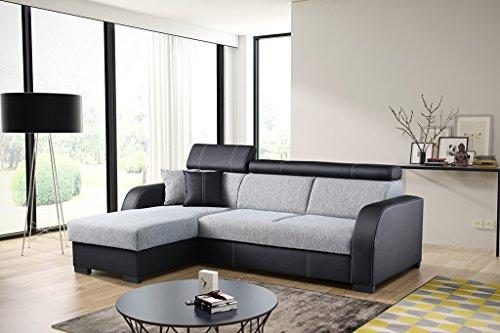 Couch mit Schlaffunktion Eckcouch Ecksofa Polstergarnitur Wohnlandschaft – COBBY