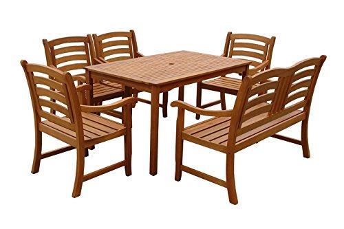 Indoba Gartenmöbel Set, 6-teilig 'Montana' - Gartenset - Serie Montana, braun, 135 x 85 x 74 cm,...