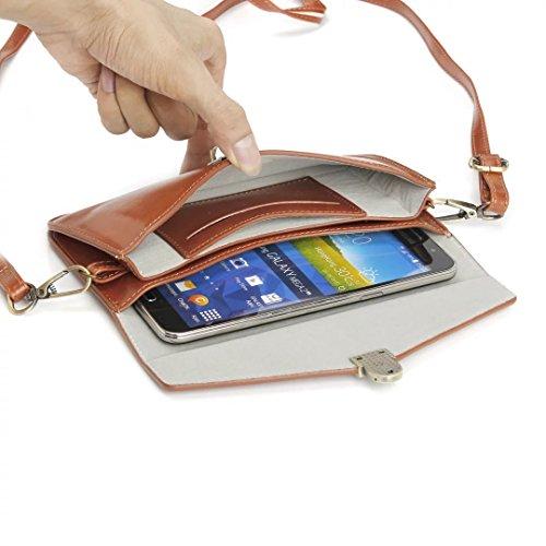 iPhone Case Cover Universal Fall-Abdeckung Geniune lederner Fall-Beutel-fester Farben-Beutel-Kasten für Handy (Fall-Größe: 18.8cm * 10.5cm) ( Color : Black , Size : 18.8*10.5cm ) Brown