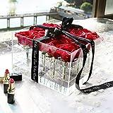 ToGames-DE Klare Acryl Rose Blumenkasten mit Deckel Romantic Flower Frischhaltebox
