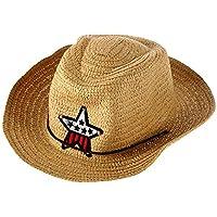 HarveyRudol85 Los Niã±Os Occidental del Vaquero de Paja Sombrero de Sol a Prueba de Viento del Casquillo Grande del Borde Ancho Sunbonnet