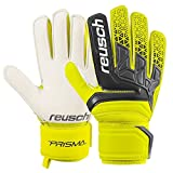 Guanti Portiere Calcio Calcetto Reusch Prisma SD (9,5, Safety Yellow / Black)