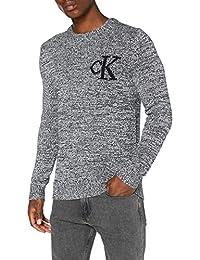 Calvin Klein Jeans Twisted Yarn CK Logo Sweater Homme