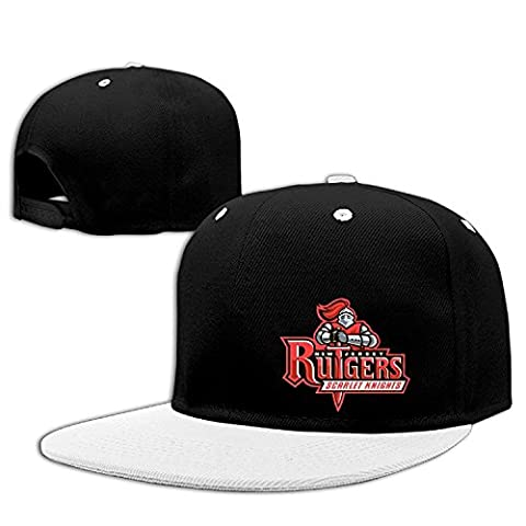 Adult Retro Rutgers Scarlet Knights Cotton Trucker Hat White One Size For Men And Women