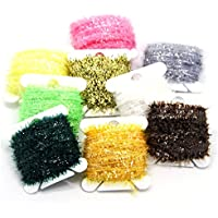 SAMS FISHING 9 Cards 90 Meters Ice Chenille Fly Tying Materials Flash Chenille Line Specific 9 Colors