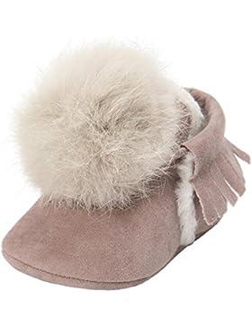 Fuibo Babyschuhe, Baby Jungen Ball-Quasten behalten warme Baumwolle-gepolsterte Schuhe Turnschuh-Gleitschutzschuh