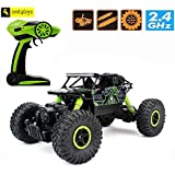 Zest 4 Toyz 2.4Ghz 1/18 RC Rock Crawler Vehicle Buggy Car 4 WD Shaft Drive High Speed Remote Control Monster Off Road Truck... (Green)