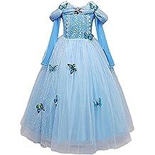 Detalles sobre Cinderella disfraces carnaval niña niña princesa vestido azul claro 870