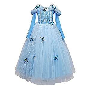 details ber cinderella kleid kost me karneval m dchen m dchen prinzessin hellblaues kleid 870. Black Bedroom Furniture Sets. Home Design Ideas
