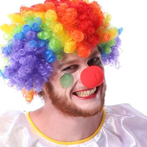 Foto de BEETEST 50 piezas Circo Fiesta Halloween Comic traje de espuma divertido payaso nariz