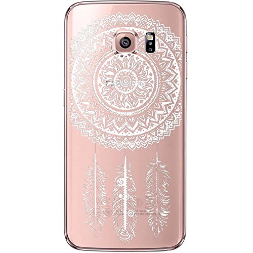 Coque Samsung Galaxy S6 Edge Plus TPU Case Cover Absorption de Choc Hull, Vandot Samsung Galaxy S6 Edge Plus Etui Silicone Souple Transparente Case Très Légère Housse Ajustement Parfait Coque pour Sam Dreamcatcher