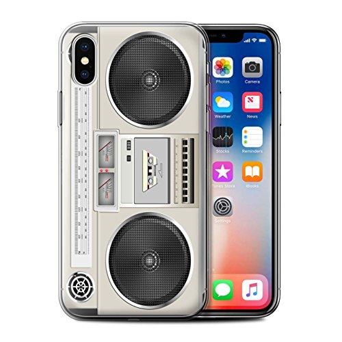 Coque Gel TPU de Stuff4 / Coque pour iPhone 6+/Plus 5.5 / Compact Cassette Audio Design / Retro Tech Collection Boombox