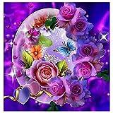 Vovotrade DIY 5D Diamant Malerei, Kristall Strass Diamant Stickerei Gemälde Bilder Kunsthandwerk für Hauptwanddekor Farbige Schmetterlinge,40 * 30cm