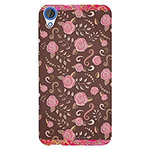 EYP Soft Roses Pattern Back Cover Case for HTC Desire 820Q